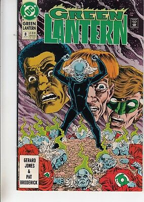 Green Lantern  #8 1991 Dc -Bringing It Together- Jones/ Broderick...vf/nm