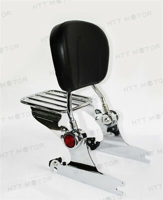 Adjustable Detachable Sissy Bar Luggage Rack Reflector for HD Softail DELUXE 06-