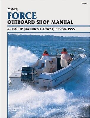 Clymer 7.5 Hp Force Outboard Shop Service Repair Engine Manual 1984-1999 '84-'99
