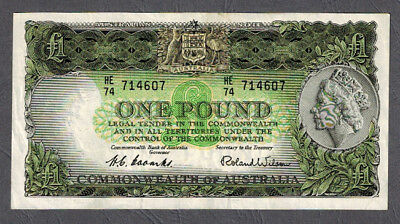 Australian 1953 QEII Coombs/Wilson One Pound Banknote R33