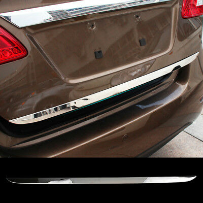 Fit For 13- Nissan Sentra Pulsar Chrome Rear Trunk Boot Tailgate Door Cover Trim