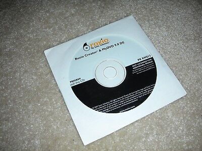 ROXIO CREATOR/ MYDVD DE 9 0 Windows CD/DVD Burning Program Installation  Disk New