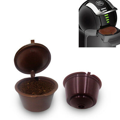 Black/Brown Refillable Coffee Capsule Pod Filter for Nescafe Dolce Gusto Machine
