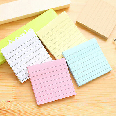 Sticky Notes Notebook Memo Pad Bookmark Paper Sticker Notepad Stationery Random@
