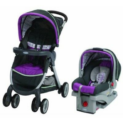 Graco FastAction Fold Click Connect Travel System Car Seat Stroller Combo NYSSA