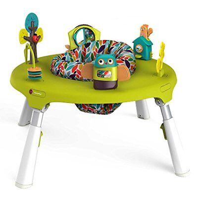 4-in-1 Foldable Travel Activity Center Turn Bounce Play Transform Forest Friends