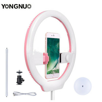 YONGNUO 128 LED Pink Video Ring Light Live Selfie + Stand for Sony Canon Iphone