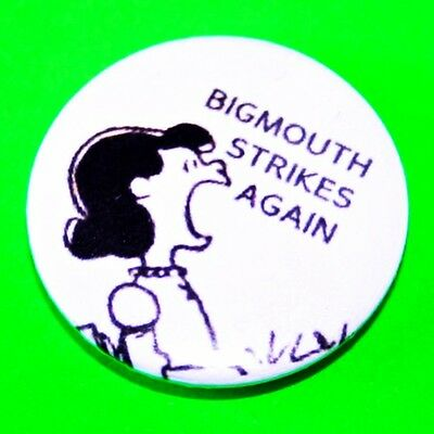 The Smiths Lucy Snoopy Peanuts Bigmouth Strikes Again Button Pin Badge