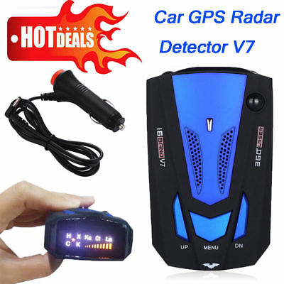 360 Degree Car Speed Radar 16 Band V7 GPS Police Safe Detector Voice Alert Laser