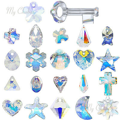 PICK SHAPE Genuine Swarovski Pendants jewelry necklace making CRYSTAL AB 001 AB