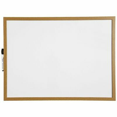 J.Burrows Magnetic Whiteboard 600 x 450mm Oak