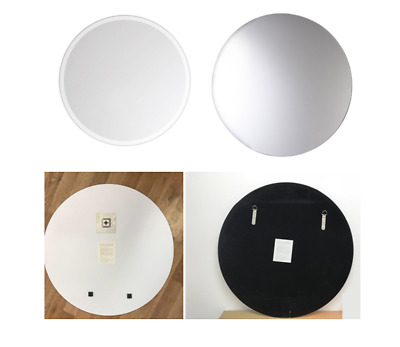 Frameless Mirror Round Shape Real Mirrors 60cm Large Bathroom with Bevelled Edge