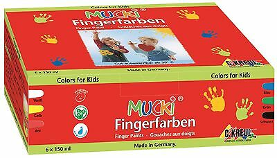 6er-Set Mucki Fingerfarbe 6 x 150 ml von C. KREUL - Made in Germany