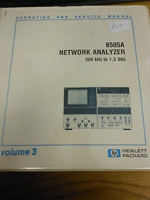 HP/Agilent 8505A Network Analyzer Operation and Service Manual Vol 3 Loc: 219