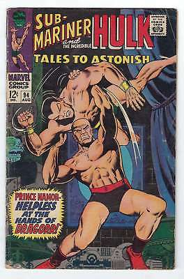 Tales to Astonish (Vol 1) #  94 Very Good (VG)  RS003 Marvel Comics SILVER AGE