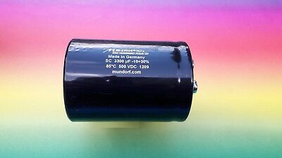 MUNDORF MLYTIC MLSC HP+ 3300µf 500VDC Kondensator 4-pol capacitor for Amplifier