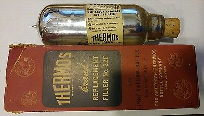 Vintage Thermos Brand Boxed Replacement Filler No. 22F, Fits Pint Vaccuum Bottle