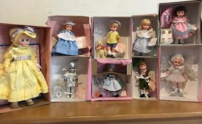 Lot of 9 Madame Alexander Dolls All LNIB with boxes