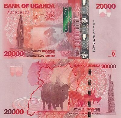 Uganda 20000 Shillings (2013) - Monument/Cattle/p53c UNC