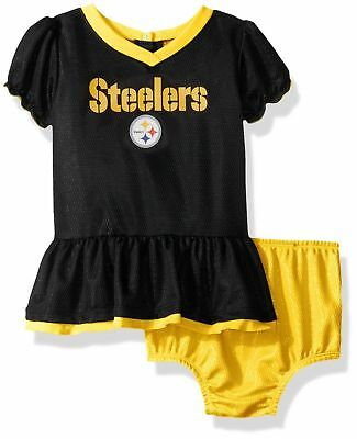 78aea431e GERBER NFL PITTSBURGH Steelers Infant Baby Girl Dazzle Dress   Panty ...