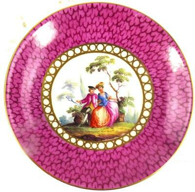 Antique 19Th Century German Meissen Porcelain Saucer Dish