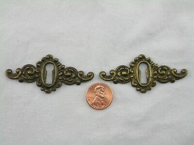 Antique Key Hole Cover Escutcheons Used Matching Pair