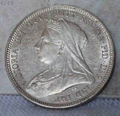 "1893 *Silver* Great Britain 1 Shilling ""BU"" *Free S/H After 1st Item*"