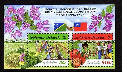 1998 SOLOMON ISLANDS TECHNICAL COOPERATION CHINA minisheet SG911 mint unhinged