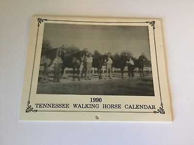 1990 TENNESSEE WALKING HORSE Calendar w/Vintage Photos of Famous Horses TWH
