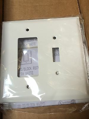 1 pc) Mulberry 2 Gang Decorator/Toggle Switch Wall Plate White Metal 86865 JUMBO