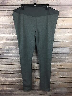 Liz Lange Maternity Women's Gray Fitted Ponte Leggings Size XL Inseam 29.5 NEW