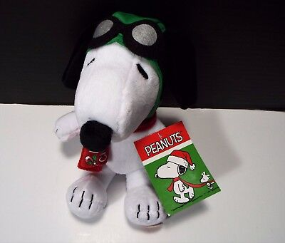 """Peanuts Snoopy Merry Christmas Musical Plush Doll Toy Plays Linus & Lucy 8.5"""""""