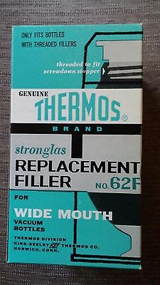 Vintage Thermos Brand Replacement Filler No. 62F for Wide Mouth Vacuum Bottles