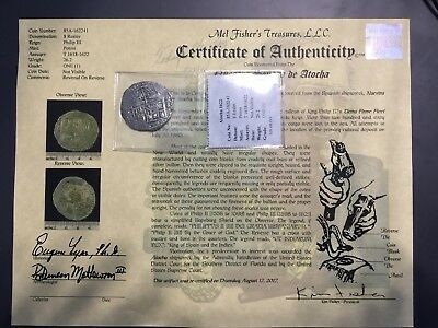 Atocha 8 Real Grade 1 with Certificate of Authenticity
