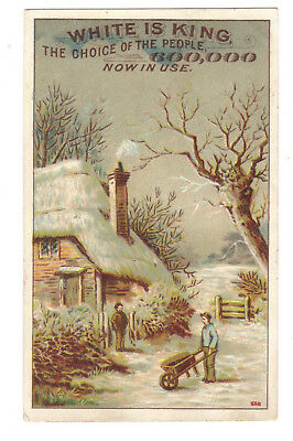 The White Sewing Machine Trade Card - Country Scene