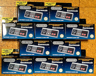 Nintendo Mini NES Classic Controller Original Genuine Official in Box Unopened