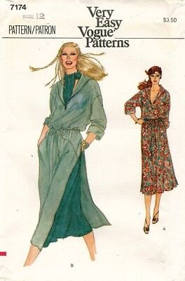 1970's VTG VOGUE Misses' Dress,Tunic,Skirt,Ascot Pattern 7174 Size 12 UNCUT