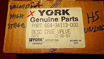 New - York 664-34113-000 Cage VALVE - Free Shipping