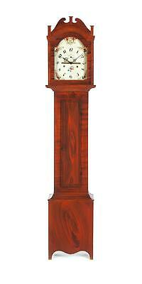 CONNECTICUT DECORATED TALL CASE CLOCK BY RILEY WHITING. Lot 384