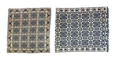 TWO INDIANA JACQUARD COVERLETS. Lot 665