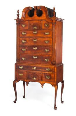 CONNECTICUT QUEEN ANNE HIGH CHEST. Lot 196