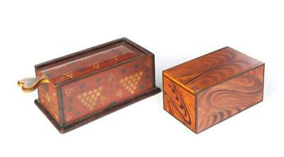 TWO CONTEMPORARY DECORATED CANDLE BOXES. Lot 525