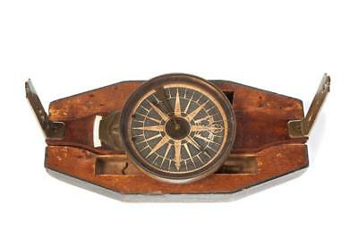 SURVEYOR'S COMPASS ATTRIBUTED TO BENJAMIN HANKS (CONNECTICUT, LATE 18... Lot 103