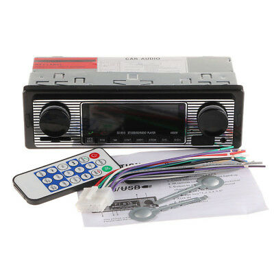 Car Stero FM retro radio car 12V Player Bluetooth Stereo MP3 USB SD AUX Audio