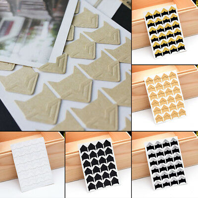120pcs Self Adhesive Photo Album Corner Protector Stickers Card Picture Frame