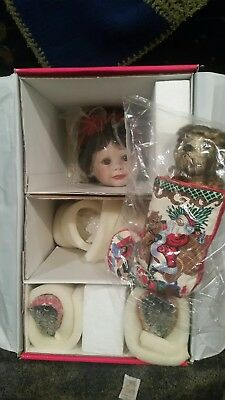 "MARIE OSMOND ""Baby Annette Holiday"" 15"" Seated Porcelain Doll! NEW IN BOX!"