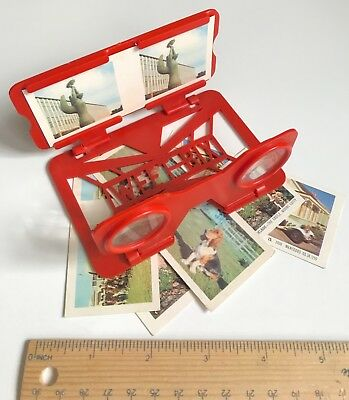 1960s 3D PHOTO SLIDE VIEWER WEET-BIX CEREAL TOY VIEW-A-SCOPE AUS + BONUS CARDS