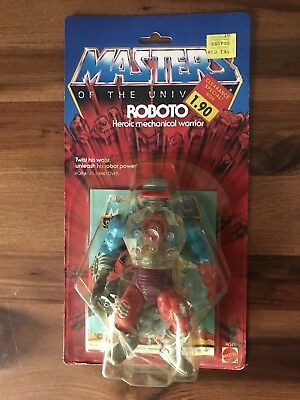 Motu Masters of the Universe Roboto 1984 Ovp Moc Carded NOS