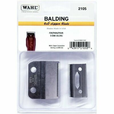 WAHL 5 STAR BALDING CLIPPER BLADE SET 2105  (0.4mm) ** GENUINE BALDING BLADE **