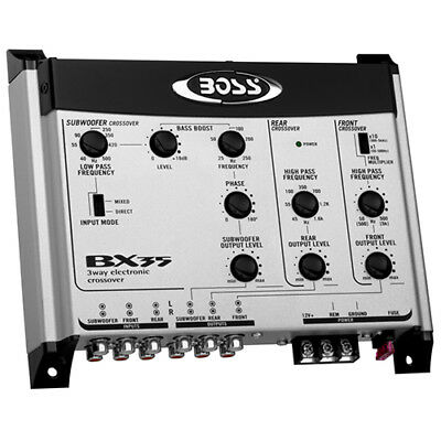 Boss Audio BX35 3-Way Pre-Amp Electronic Crossover